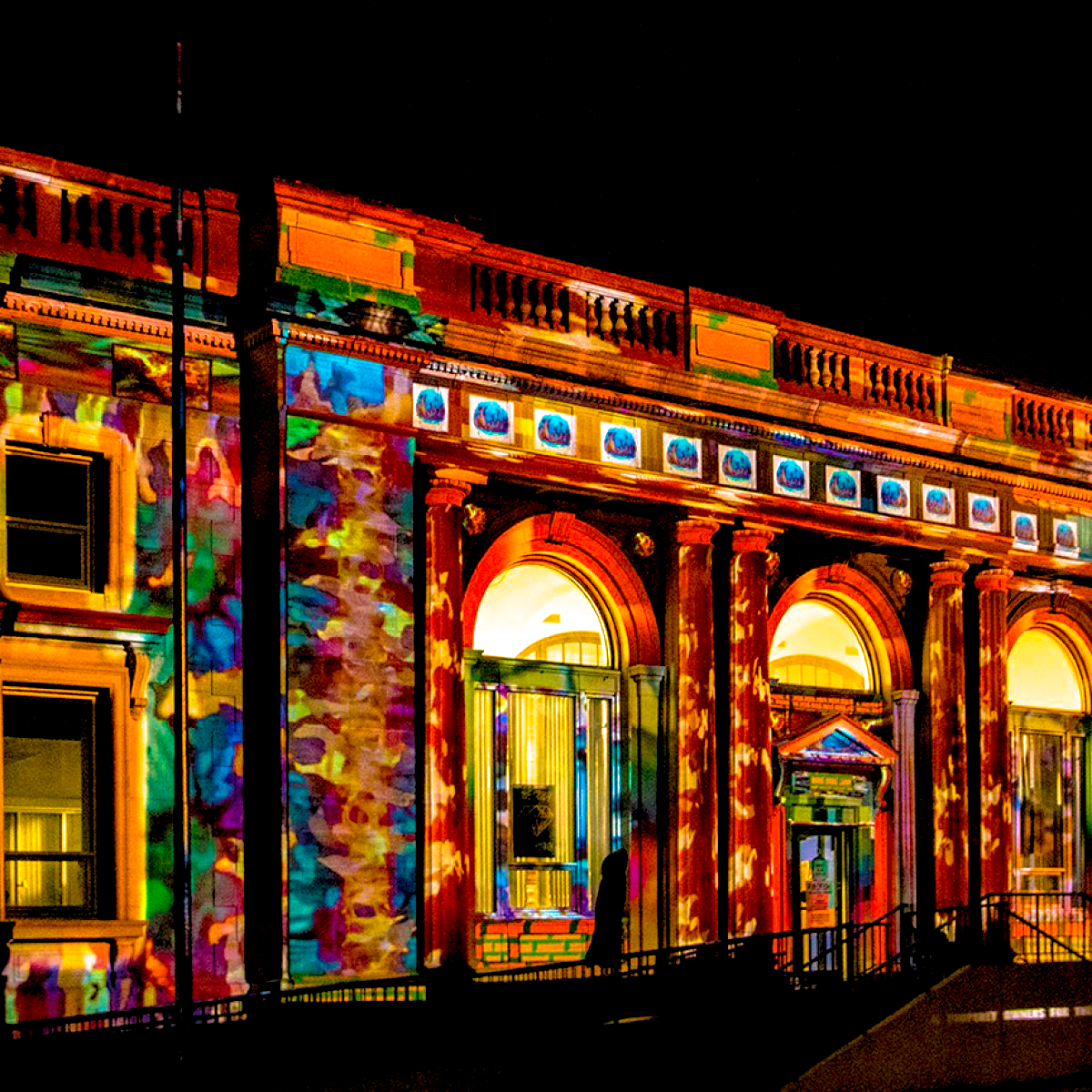 PROJECTION MAPPING ON BANK